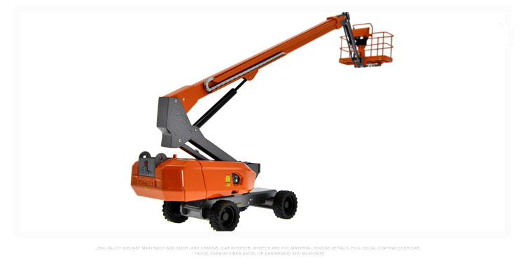 1:40 Dingli Self-Propelled Telescopic Boom Lift, (Scale Model Truck, Construction vehicles Scale Model, Alloy Toy Car, Diecast Scale Model Car, Collectible Model Car, Miniature Collection Die cast Toy Vehicles Gifts).