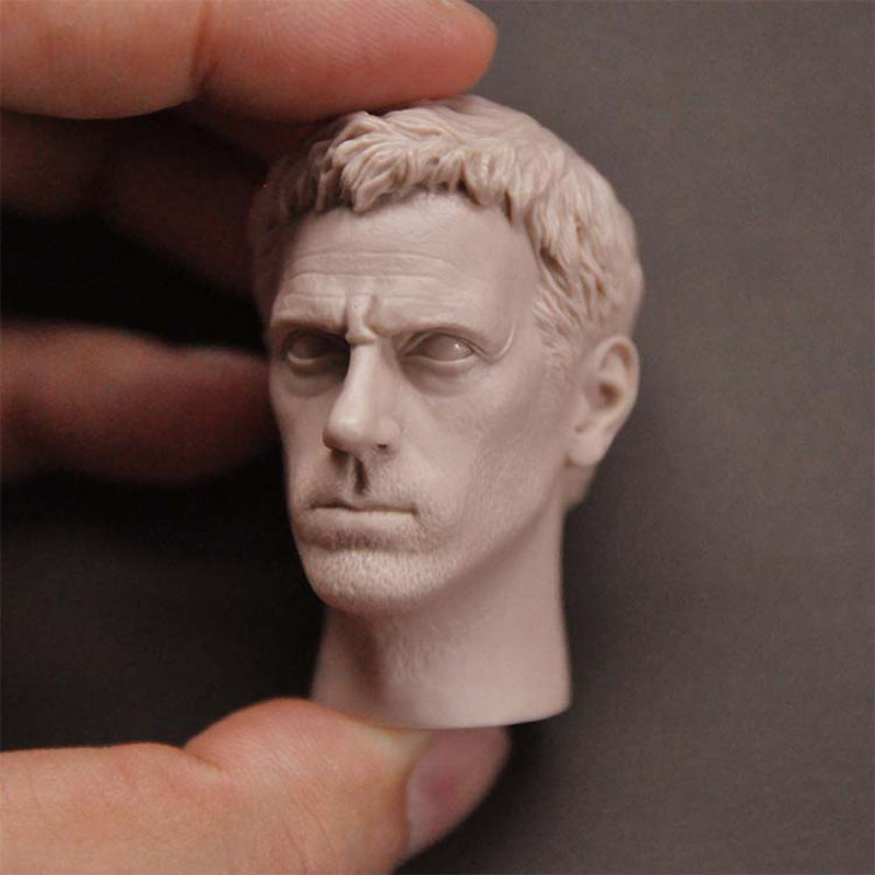 1/6 Scale Dr. House Hugh Laurie Unpainted Head Sculpture Model Fit 12¡± Male Soldier Action Figure Body In Stock