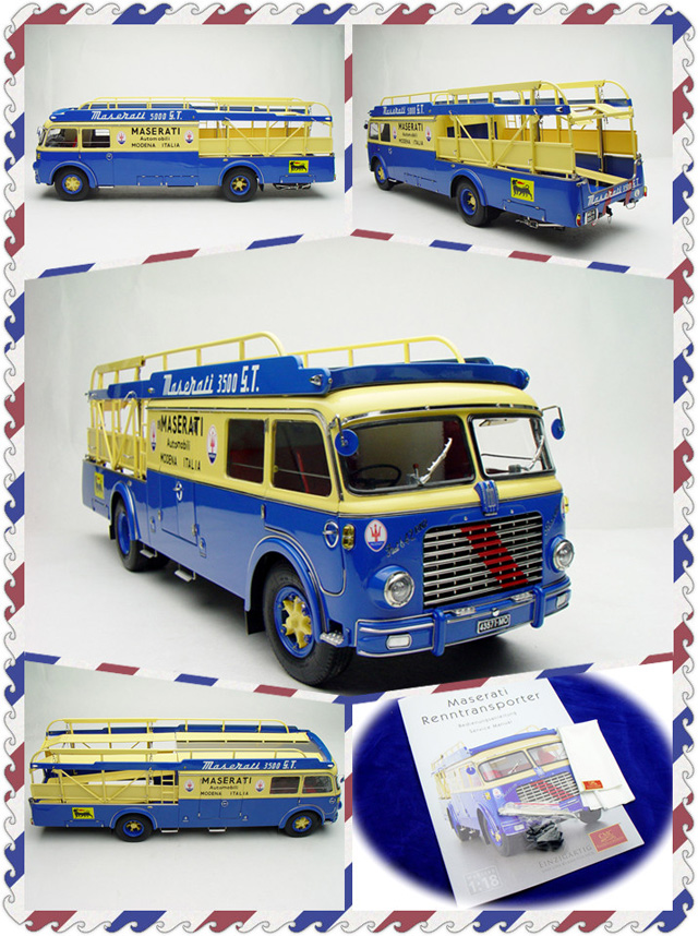 1/18 Fiat 642 RN2 Maserati Transporter 1957 Precious Alloy Toy Car, Diecast Scale Model Car, Collectible Model Car, Miniature Collection Die-cast Toy Vehicles Gifts