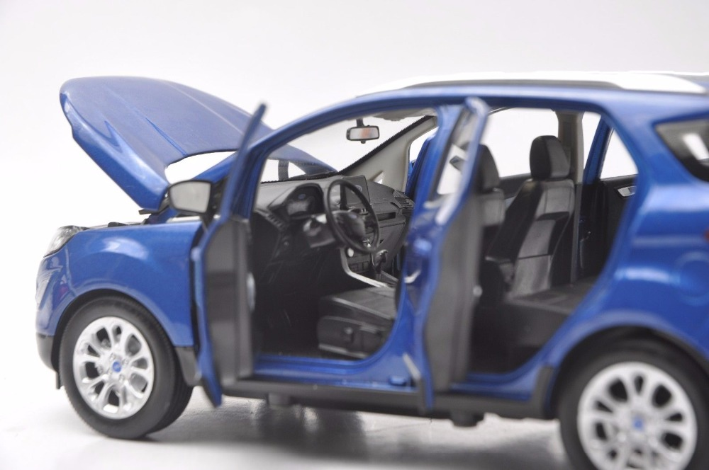 1/18 Ford ECOSPORT 2018 Blue Mini SUV Alloy Toy Car, Diecast Scale Model Car, Collectible Model Car, Miniature Collection Die-cast Toy Vehicles Gifts
