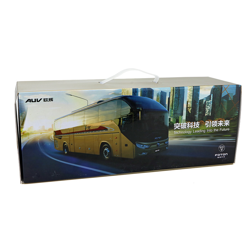 1/36 Foton AUV 6122 Travel Bus (with Lights) Alloy Toy Car, Diecast Scale Model Car, Collectible Model Car, Miniature Collection Die-cast Toy Vehicles Gifts
