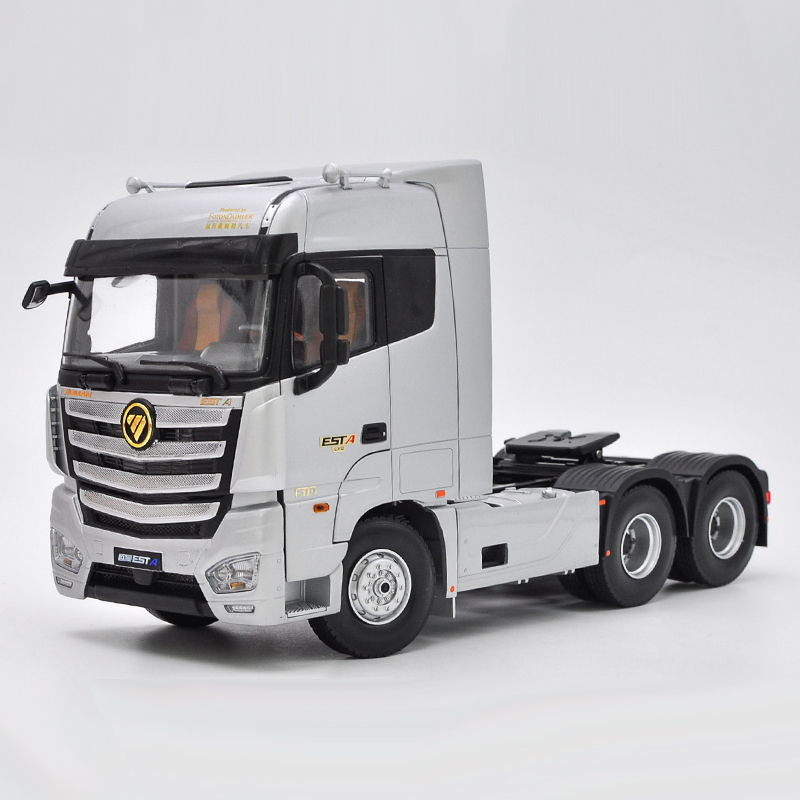1/24 Foton Daimler Auman EST-A Heavy Duty Truck ESTA Tractor Trailer EST A Alloy Toy Car, Diecast Scale Model Car, Collectible Model Car, Miniature Collection Die-cast Toy Vehicles Gifts