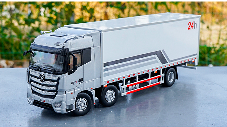 1/36 Foton Daimler Auman EST-A 6X2 Truck ESTA Tractor Trailer EST Alloy Toy Car, Diecast Scale Model Car, Collectible Model Car, Miniature Collection Die-cast Toy Vehicles Gifts