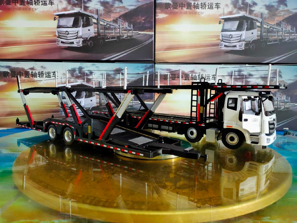 1/36 Foton Daimler Auman Mid-axle Truck ETX EST GTL Tractor Trailer Alloy Toy Car, Diecast Scale Model Car, Collectible Model Car, Miniature Collection Die-cast Toy Vehicles Gifts
