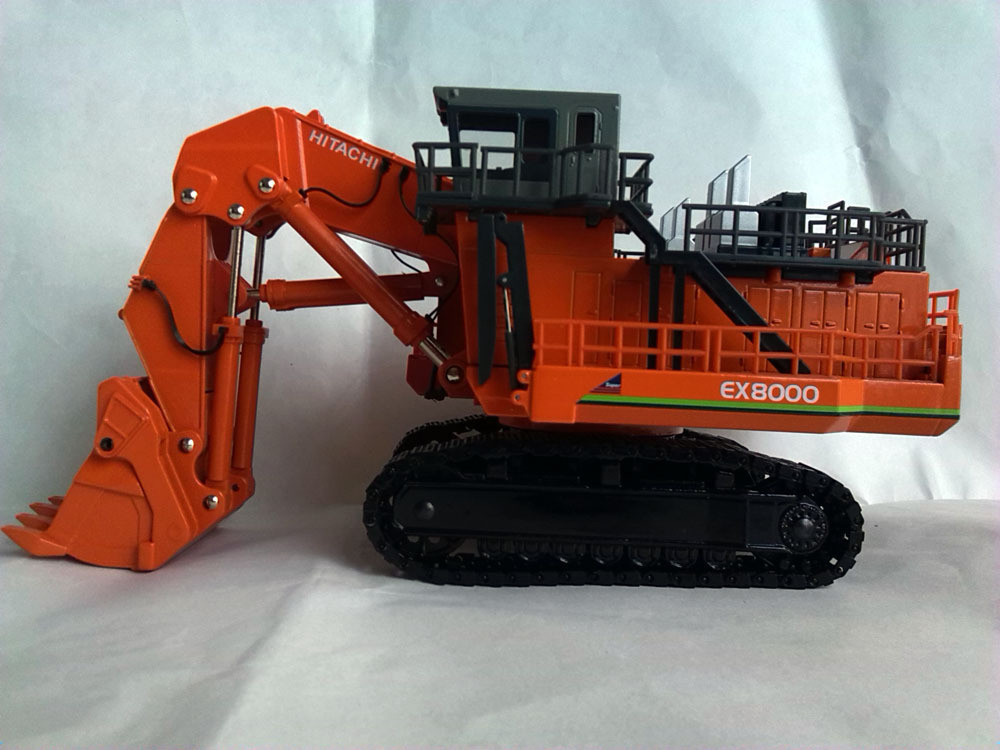 1:87 HITACHI EX8000 EXCAVATOR toy, (Scale Model Truck, Construction vehicles Scale Model, Alloy Toy Car, Diecast Scale Model Car, Collectible Model Car, Miniature Collection Die cast Toy Vehicles Gifts).