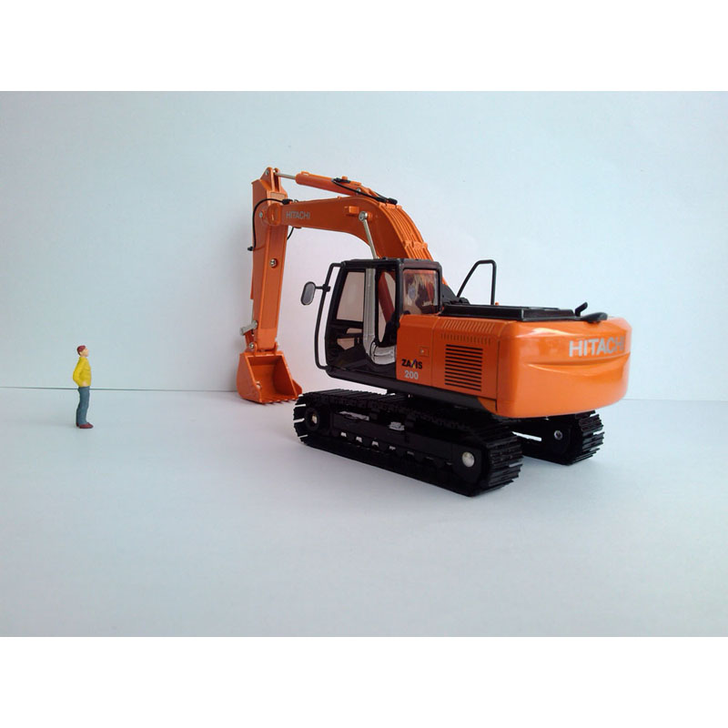 1:40 HITACHI ZAXIS 200-3 Excavator Toy, (Scale Model Truck, Construction vehicles Scale Model, Alloy Toy Car, Diecast Scale Model Car, Collectible Model Car, Miniature Collection Die cast Toy Vehicles Gifts).
