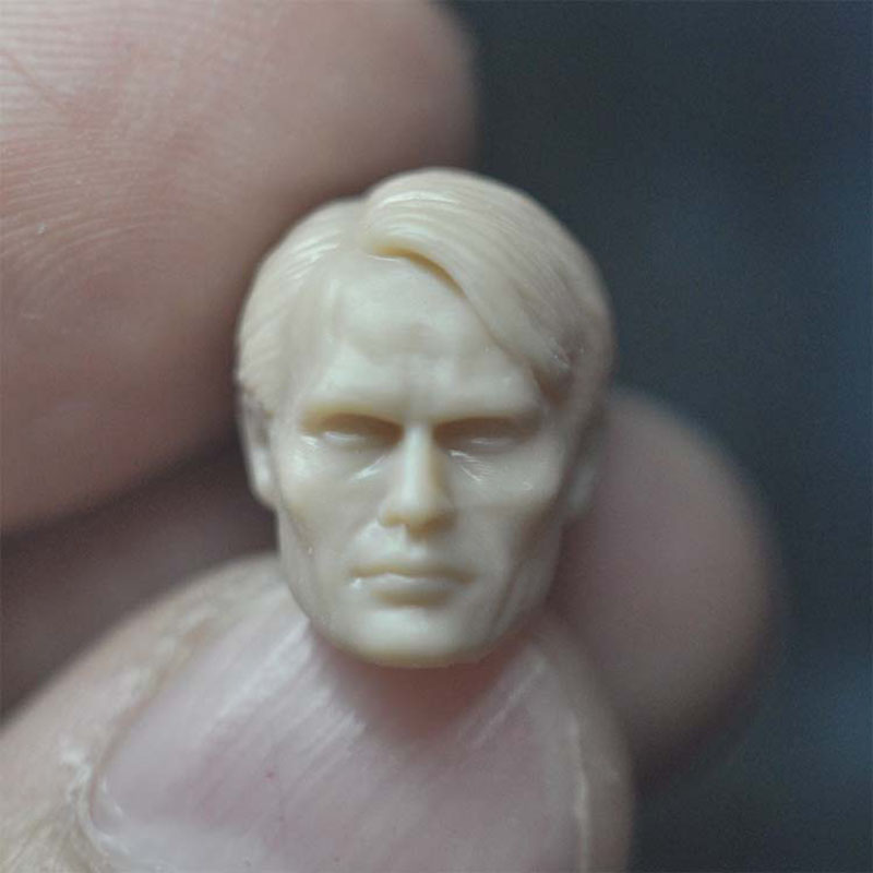 1/18 Scale Hannibal Mads Mickelson Unpainted Head Sculpture Model Fit 3.75¡± Male Soldier Action Figure Body In Stock