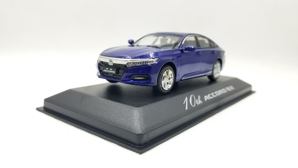 1/43 Honda Accord 10 2018 10th Generation Blue New Sedan Alloy Toy Car, Diecast Scale Model Car, Collectible Model Car, Miniature Collection Die-cast Toy Vehicles Gifts