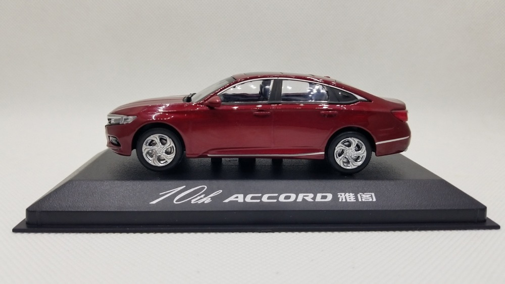 1/18 Honda Accord 10 2018 10th Generation Red New Sedan Alloy Toy Car, Diecast Scale Model Car, Collectible Model Car, Miniature Collection Die-cast Toy Vehicles Gifts