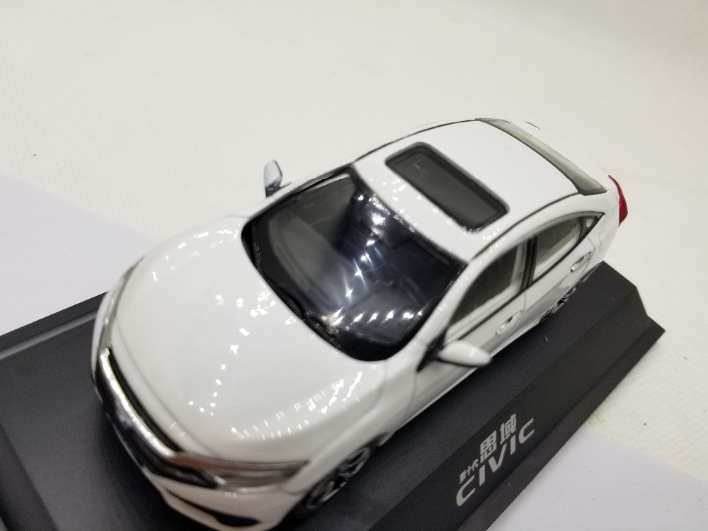 1/43 Honda Civic 2016 MK10 White Alloy Toy Car, Diecast Scale Model Car, Collectible Model Car, Miniature Collection Die-cast Toy Vehicles Gifts