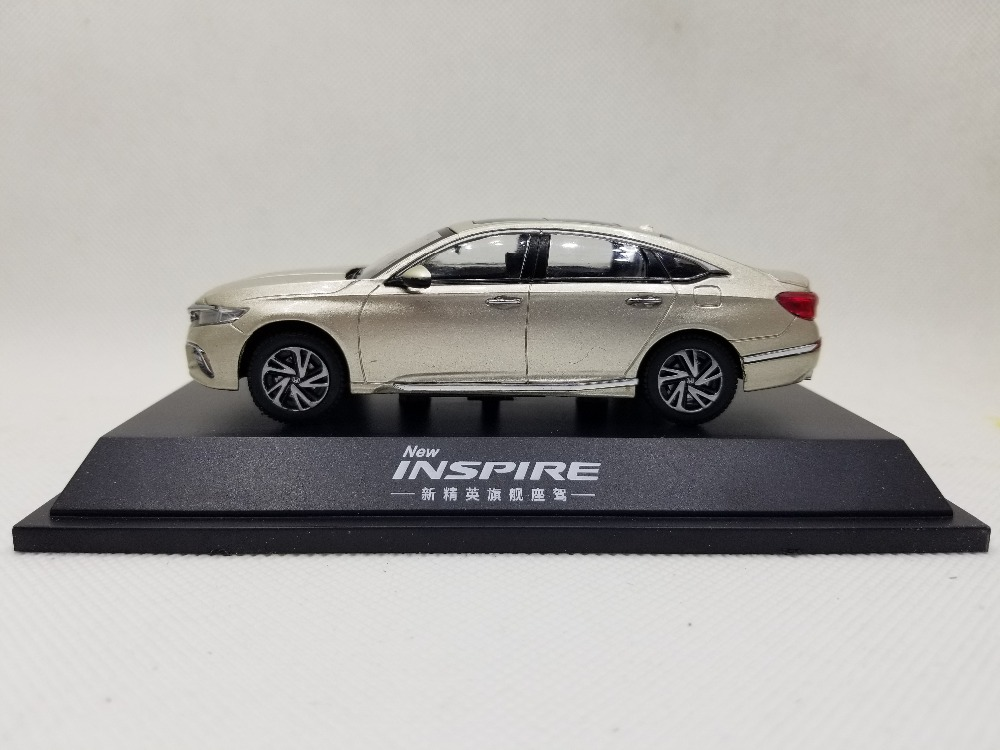 1/43 Honda Inspire Sport Turbo 2018 Gold Alloy Toy Car, Diecast Scale Model Car, Collectible Model Car, Miniature Collection Die-cast Toy Vehicles Gifts
