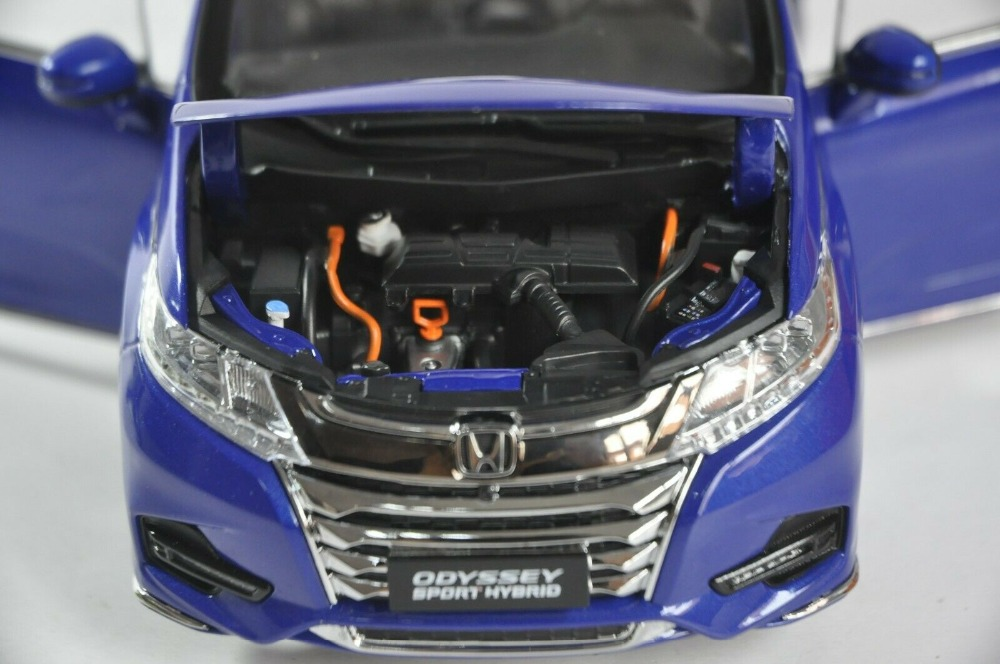 1/18 Honda Odyssey Sport Hybrid 2019 Blue MPV Alloy Toy Car, Diecast Scale Model Car, Collectible Model Car, Miniature Collection Die-cast Toy Vehicles Gifts