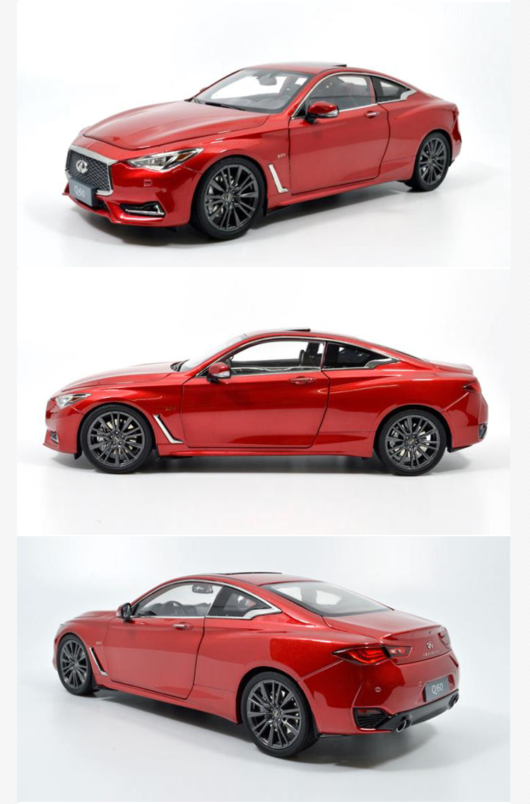 1/18 Infiniti Q60 2018 G37 Red Coupe Alloy Toy Car, Diecast Scale Model Car, Collectible Model Car, Miniature Collection Die-cast Toy Vehicles Gifts