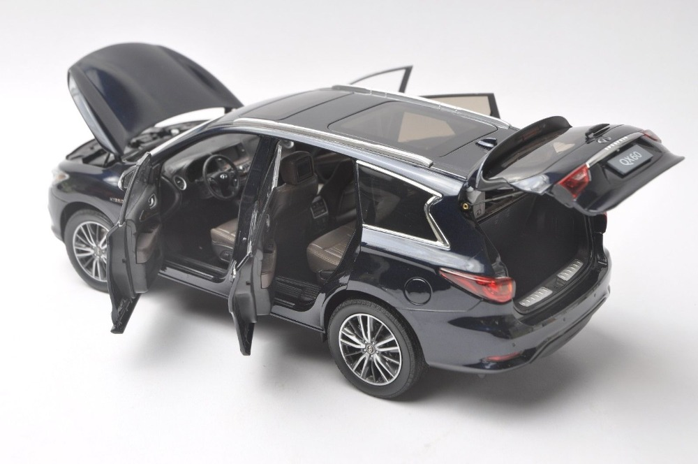 1/18 Infiniti QX60 2017 Deep Blue SUV FX50 FX Alloy Toy Car, Diecast Scale Model Car, Collectible Model Car, Miniature Collection Die-cast Toy Vehicles Gifts