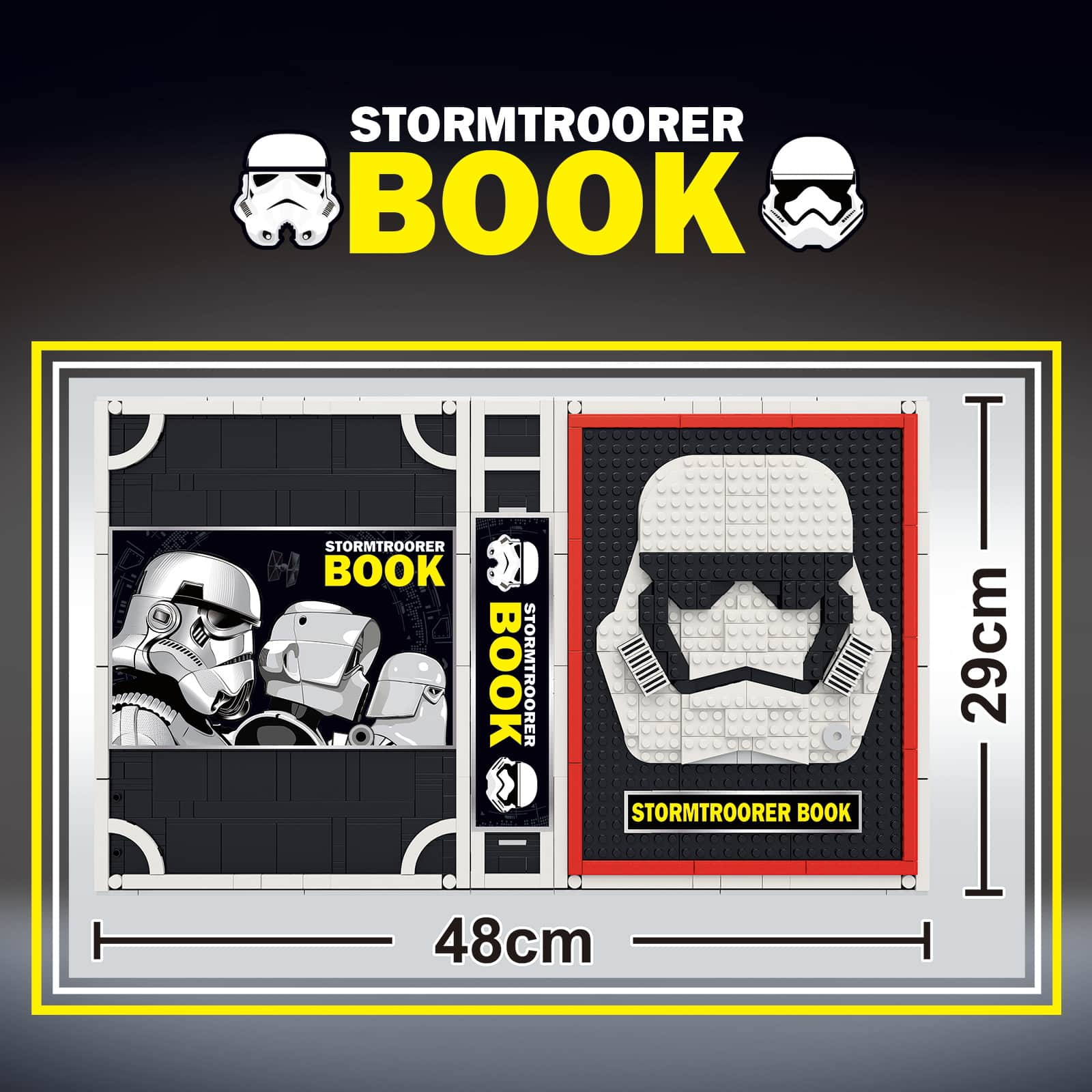 JACK 13003 MOC Star Wars Building Blocks Set, Storm Troopers Collection Book with +52 Minifigs Fit (MOC Compatible Building Blocks Bricks)