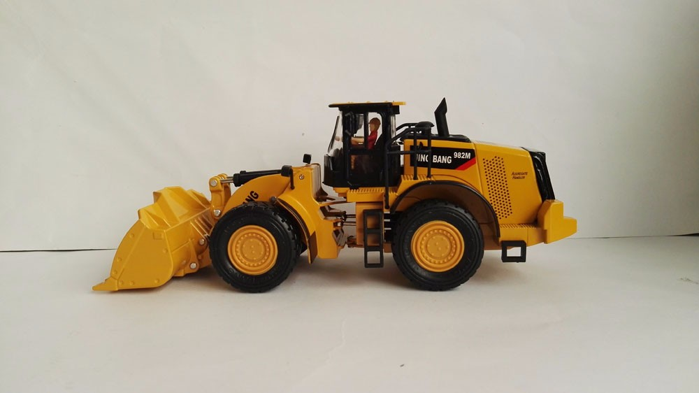 1:50 JING BANG 982M Hydraulic Loader With Yellow toy, (Scale Model Truck, Construction vehicles Scale Model, Alloy Toy Car, Diecast Scale Model Car, Collectible Model Car, Miniature Collection Die-cast Toy Vehicles Gifts).