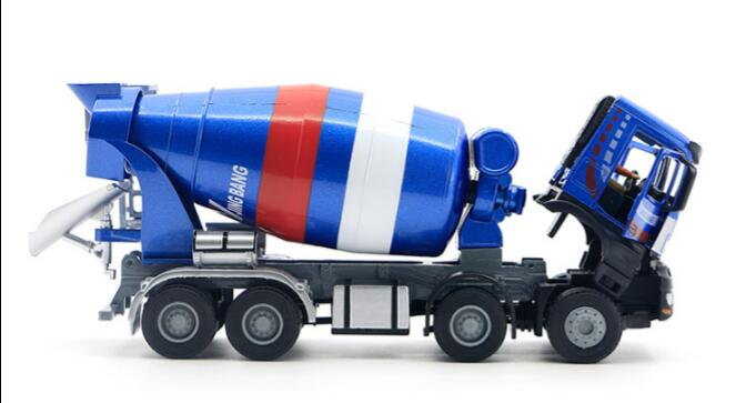 1:50 JING BANG Mixer With Blue toy, (Scale Model Truck, Construction vehicles Scale Model, Alloy Toy Car, Diecast Scale Model Car, Collectible Model Car, Miniature Collection Die-cast Toy Vehicles Gifts).