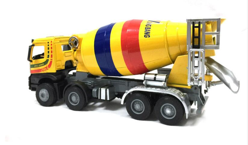 1:50 JING BANG Mixer With Yellow toy, (Scale Model Truck, Construction vehicles Scale Model, Alloy Toy Car, Diecast Scale Model Car, Collectible Model Car, Miniature Collection Die-cast Toy Vehicles Gifts).