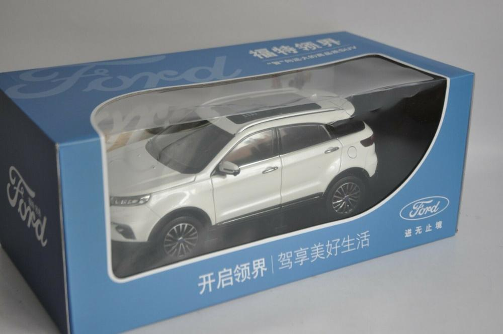 1/18 JMC Ford Territory 2019 White SUV Alloy Toy Car, Diecast Scale Model Car, Collectible Model Car, Miniature Collection Die-cast Toy Vehicles Gifts