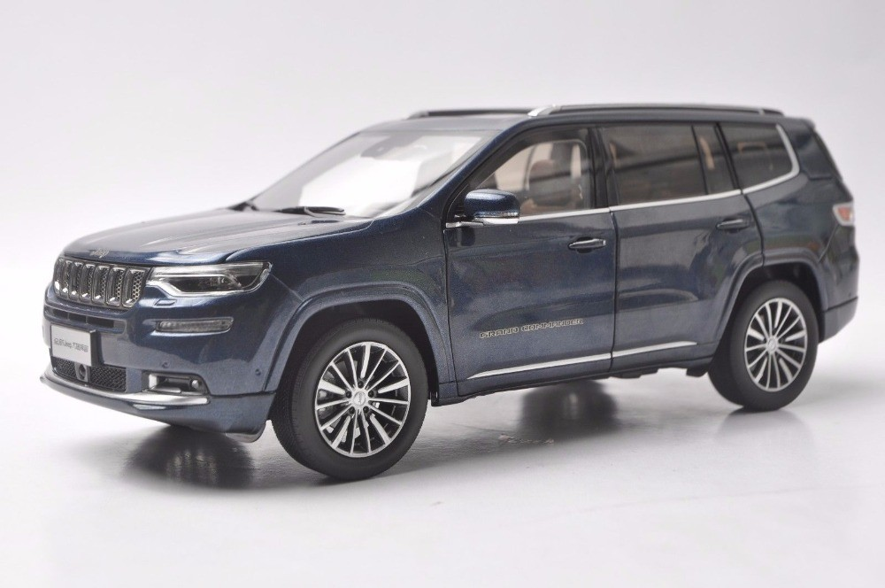 1/18 Jeep Grand Commander 2018 Blue SUV Alloy Toy Car, Diecast Scale Model Car, Collectible Model Car, Miniature Collection Die-cast Toy Vehicles Gifts