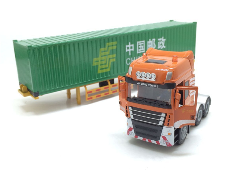 1:50 JingBang Tent Platform Transporter container, (Scale Model Truck, Construction vehicles Scale Model, Alloy Toy Car, Diecast Scale Model Car, Collectible Model Car, Miniature Collection Die cast Toy Vehicles Gifts).