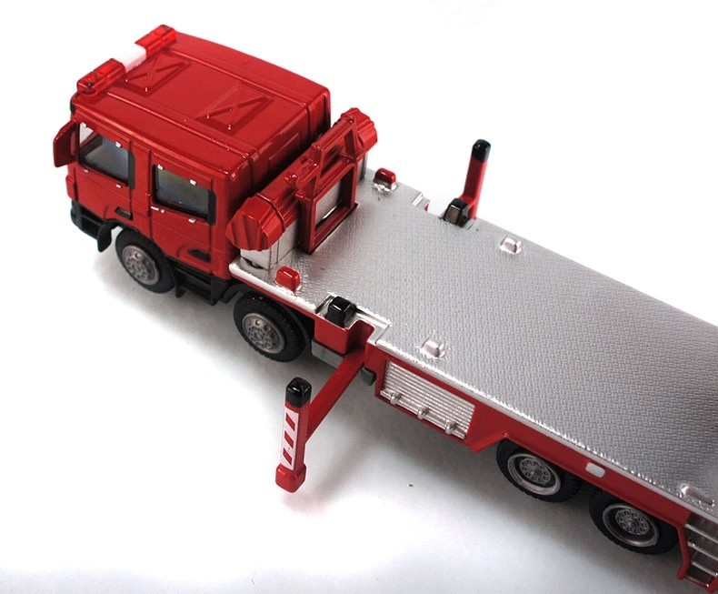 1:50 KAIDIWEI Aerial Fire Truck Toy, (Scale Model Truck, Construction vehicles Scale Model, Alloy Toy Car, Diecast Scale Model Car, Collectible Model Car, Miniature Collection Die cast Toy Vehicles Gifts).