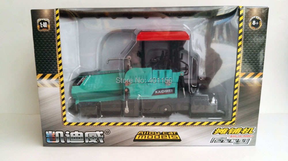 1:50 KAIDIWEI Alloy Paver with Blue Toy, (Scale Model Truck, Construction vehicles Scale Model, Alloy Toy Car, Diecast Scale Model Car, Collectible Model Car, Miniature Collection Die cast Toy Vehicles Gifts).