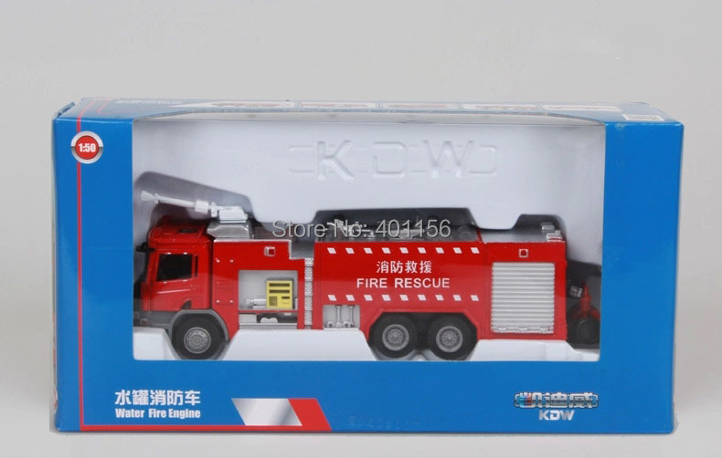 1:50 KAIDIWEI Fire Rescue Truck Toy, (Scale Model Truck, Construction vehicles Scale Model, Alloy Toy Car, Diecast Scale Model Car, Collectible Model Car, Miniature Collection Die cast Toy Vehicles Gifts).