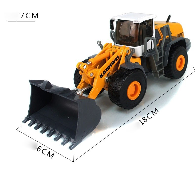 1:50 KAIDIWEI Loader Toy, (Scale Model Truck, Construction vehicles Scale Model, Alloy Toy Car, Diecast Scale Model Car, Collectible Model Car, Miniature Collection Die cast Toy Vehicles Gifts).