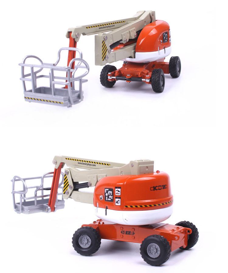 1:87 KAIDIWEI Manlift Hydraulic Aerial Work Platform Toy, (Scale Model Truck, Construction vehicles Scale Model, Alloy Toy Car, Diecast Scale Model Car, Collectible Model Car, Miniature Collection Die cast Toy Vehicles Gifts).