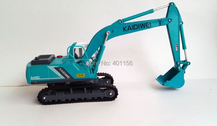 1:50 KAIDIWEI Metal Blue Excavator with Music Toys, (Scale Model Truck, Construction vehicles Scale Model, Alloy Toy Car, Diecast Scale Model Car, Collectible Model Car, Miniature Collection Die cast Toy Vehicles Gifts).
