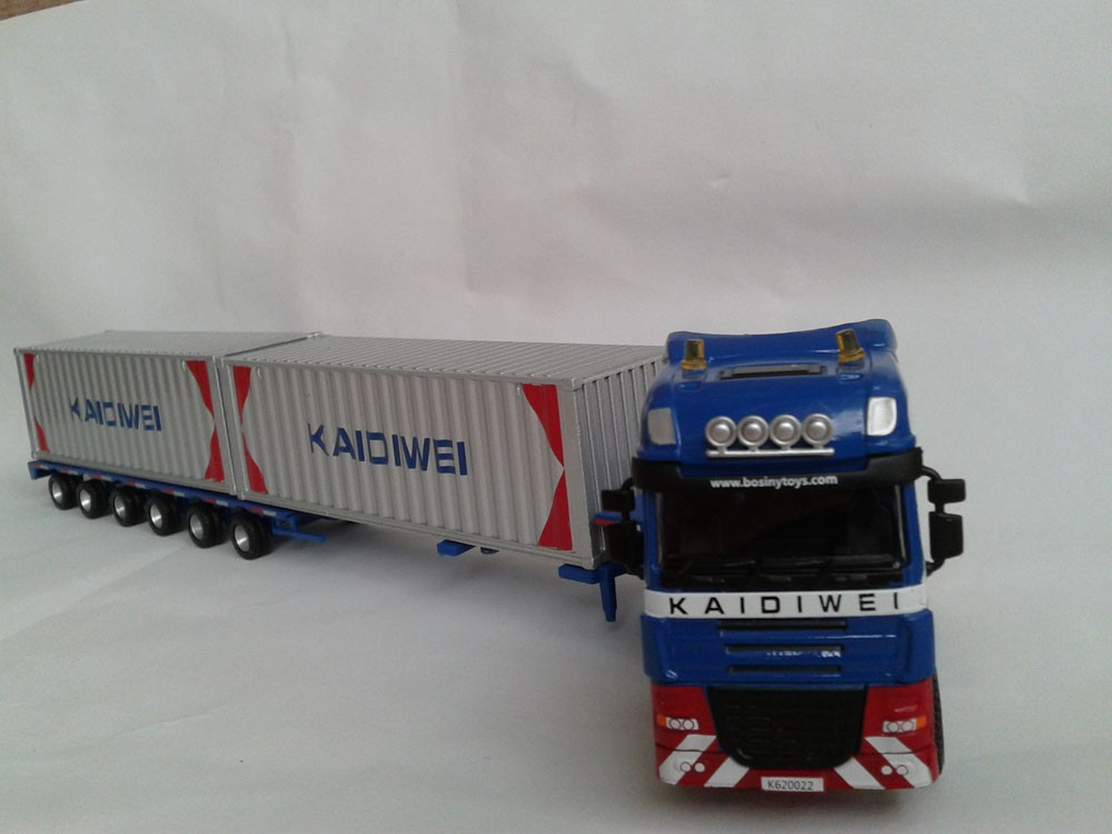1:50 KAIDIWEI semi-trailer truck container toy, (Scale Model Truck, Construction vehicles Scale Model, Alloy Toy Car, Diecast Scale Model Car, Collectible Model Car, Miniature Collection Die cast Toy Vehicles Gifts).