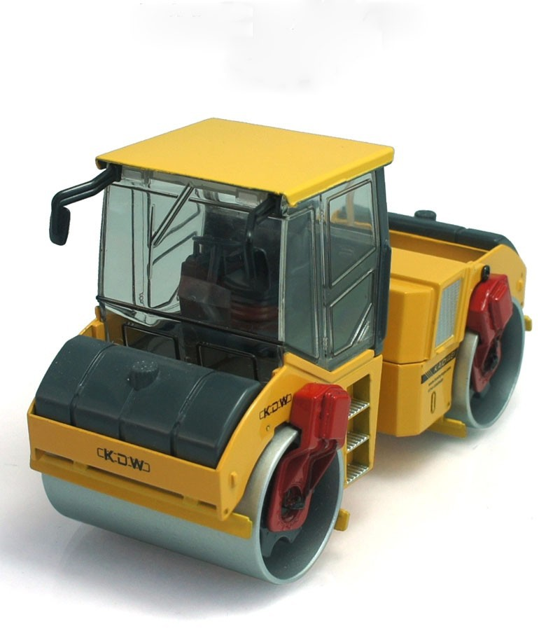 1:35 KAIDIWEI tandem compactor with yellow Toy, (Scale Model Truck, Construction vehicles Scale Model, Alloy Toy Car, Diecast Scale Model Car, Collectible Model Car, Miniature Collection Die cast Toy Vehicles Gifts).