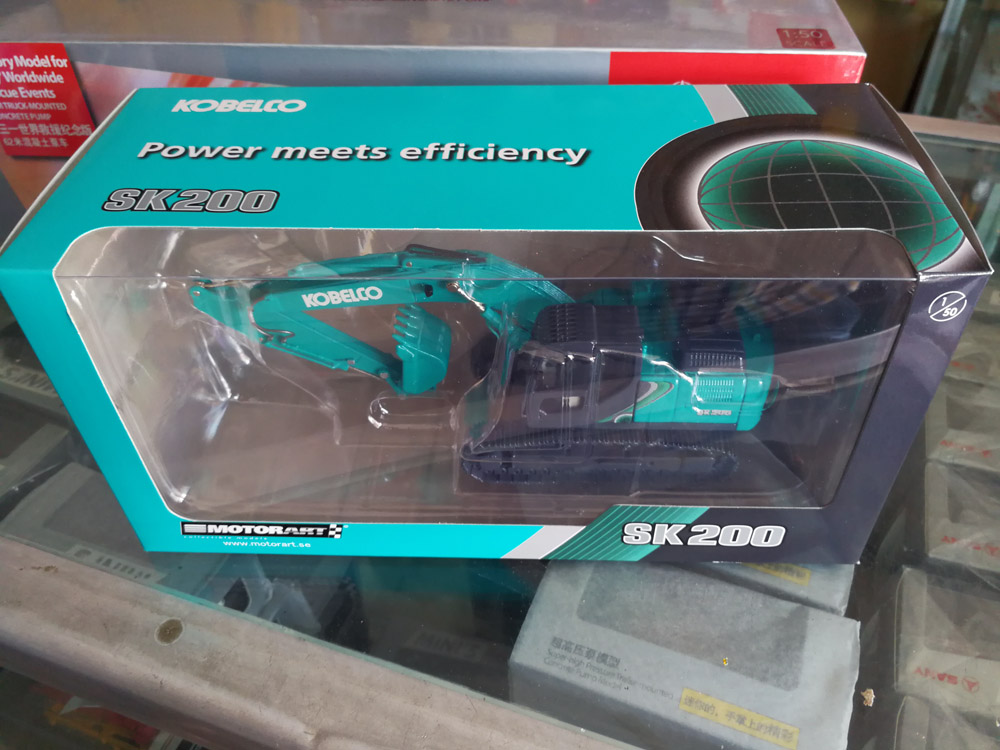 1:50 KOBELCO SK200-10 Excavator toy, (Scale Model Truck, Construction vehicles Scale Model, Alloy Toy Car, Diecast Scale Model Car, Collectible Model Car, Miniature Collection Die cast Toy Vehicles Gifts).