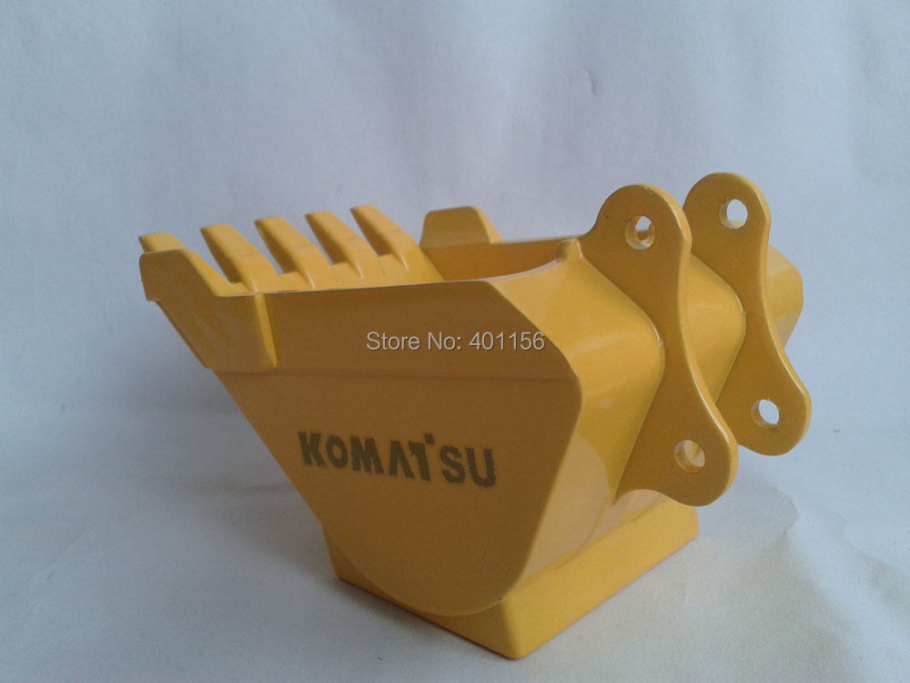 1:12 KOMATSU Metal BUCKET With KOMATSU toy, (Scale Model Truck, Construction vehicles Scale Model, Alloy Toy Car, Diecast Scale Model Car, Collectible Model Car, Miniature Collection Die cast Toy Vehicles Gifts).