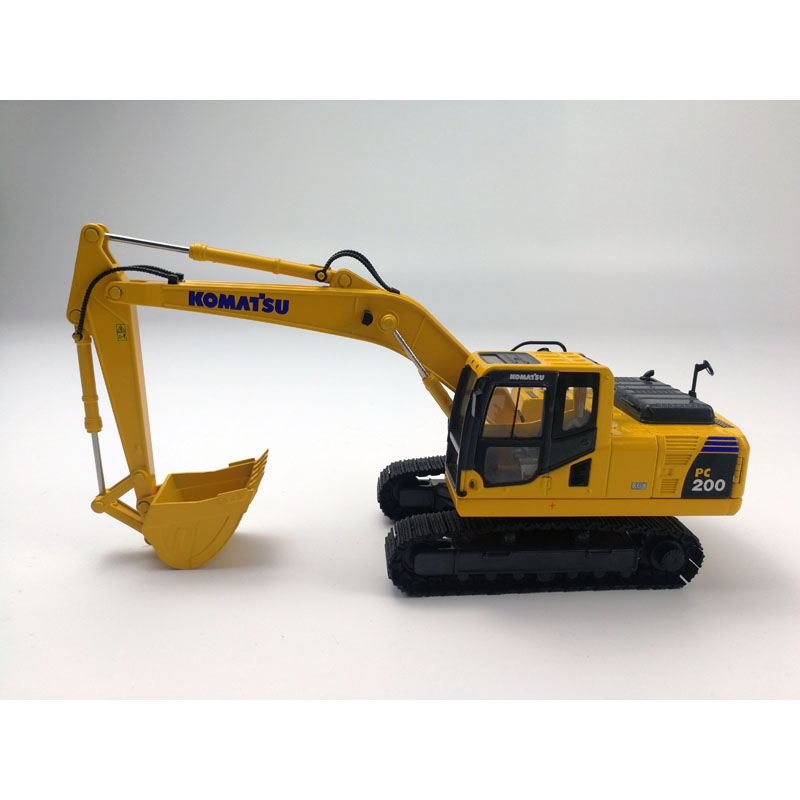 1:43 Komatsu PC200-8MO Excavator with Metal Tracks Model Toys, (Scale Model Truck, Construction vehicles Scale Model, Alloy Toy Car, Diecast Scale Model Car, Collectible Model Car, Miniature Collection Die cast Toy Vehicles Gifts).