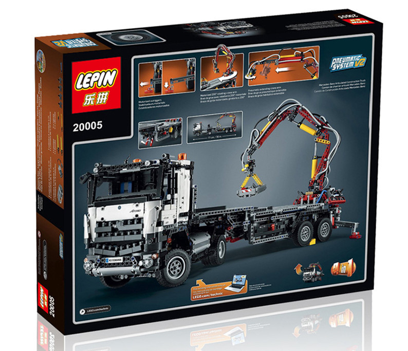 2793+ PCS Building Bricks, LP 20005 Building Blocks 42043 Mercedes-Benz Arocs 3245.