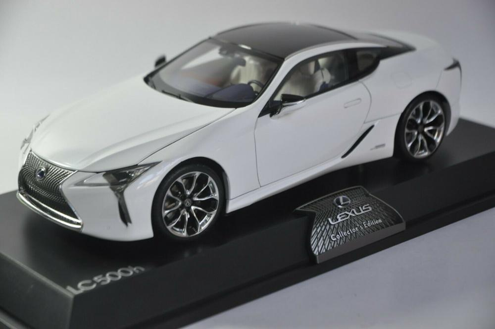 1/18 Lexus LC 500h LC500h 2018 White Coupe LC500 LS500 Alloy Toy Car, Diecast Scale Model Car, Collectible Model Car, Miniature Collection Die-cast Toy Vehicles Gifts