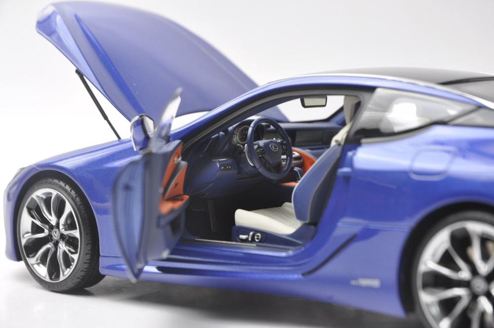 1/18 Lexus LC 500h LC500h C500 LS500 2018 Blue Coupe Alloy Toy Car, Diecast Scale Model Car, Collectible Model Car, Miniature Collection Die-cast Toy Vehicles Gifts