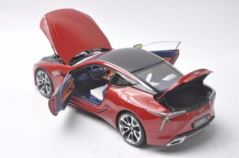1/18 Lexus LC 500h LC500h LC500 LS500 2018 Red Coupe Alloy Toy Car, Diecast Scale Model Car, Collectible Model Car, Miniature Collection Die-cast Toy Vehicles Gifts
