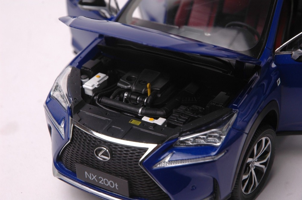1/18 Lexus NX 200t 2018 Blue NX200t NX200 Alloy Toy Car, Diecast Scale Model Car, Collectible Model Car, Miniature Collection Die-cast Toy Vehicles Gifts