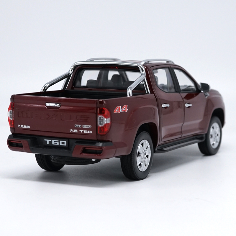 1/18 MAXUS T60 Red Pickup Alloy Toy Car, Diecast Scale Model Car, Collectible Model Car, Miniature Collection Die-cast Toy Vehicles Gifts