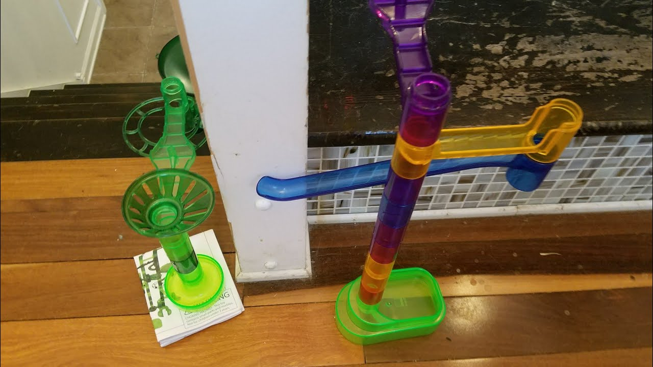 3 STORY Marble Run With SkyRail!