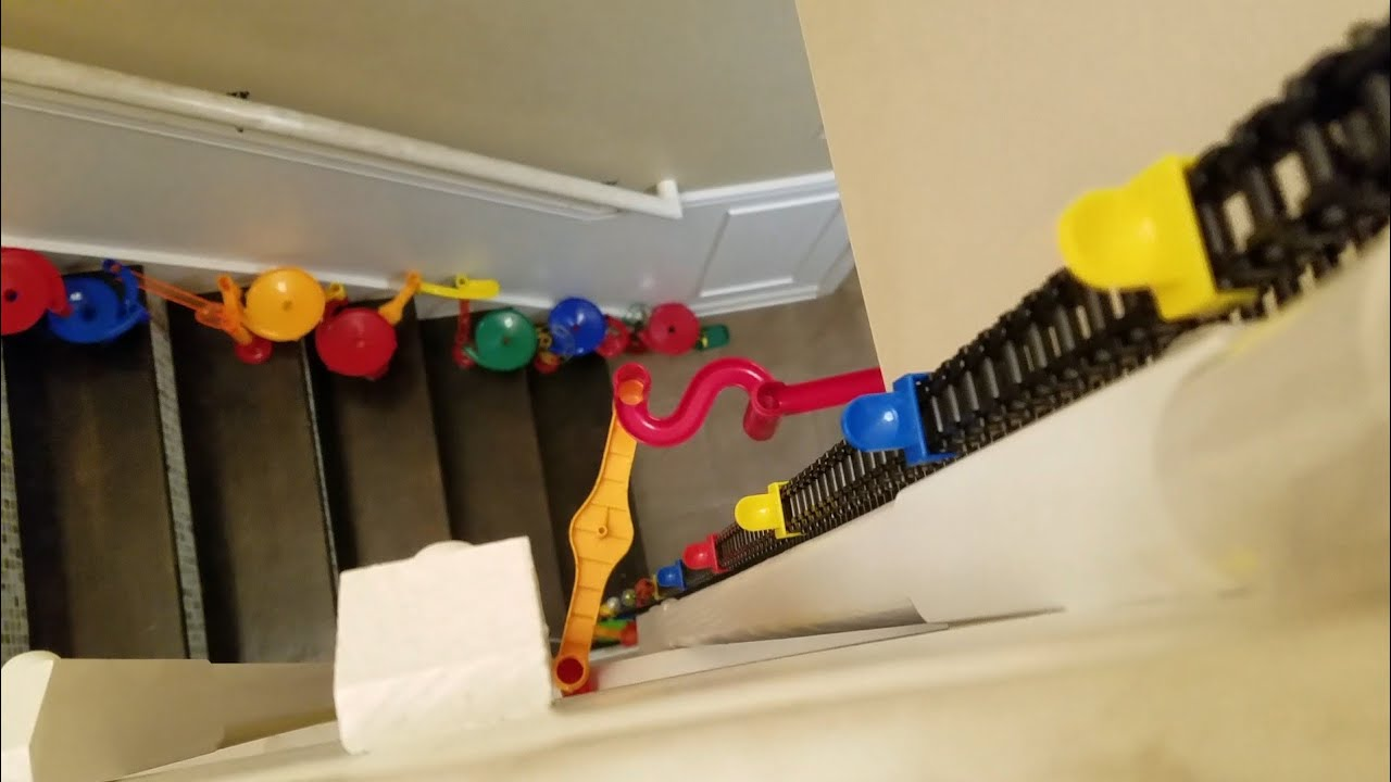 Awesome Marble Run Down My Stairs!