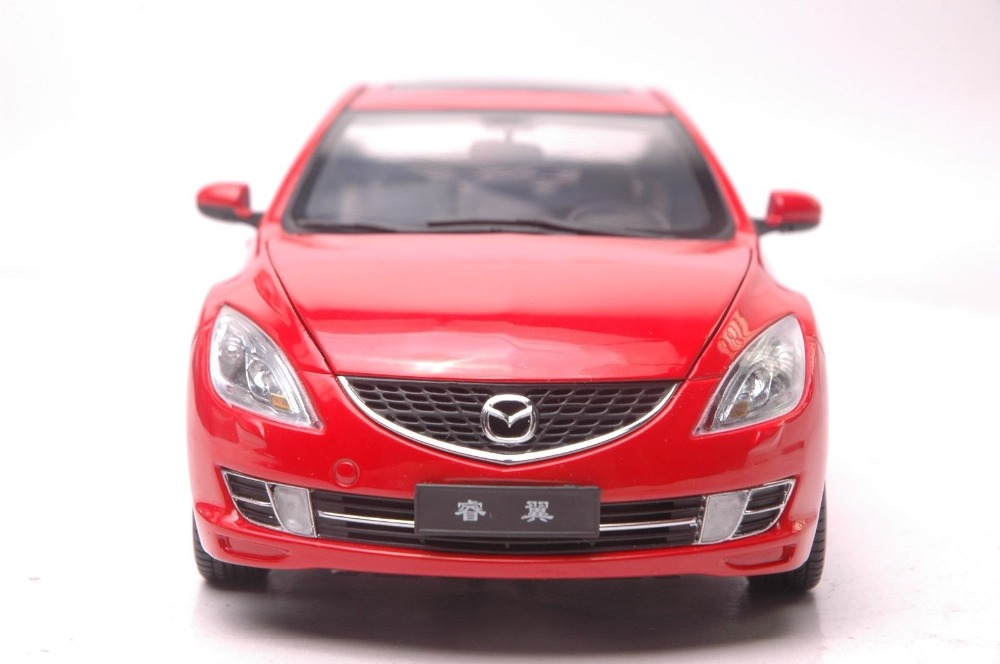 1/18 Mazda 6 Ruiyi Red Sedan Alloy Toy Car, Diecast Scale Model Car, Collectible Model Car, Miniature Collection Die-cast Toy Vehicles Gifts