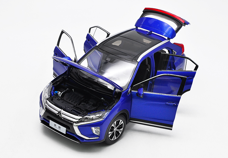 1/18 Mitsubishi ECLIPSE CROSS 2018 Blue SUV Alloy Toy Car, Diecast Scale Model Car, Collectible Model Car, Miniature Collection Die-cast Toy Vehicles Gifts