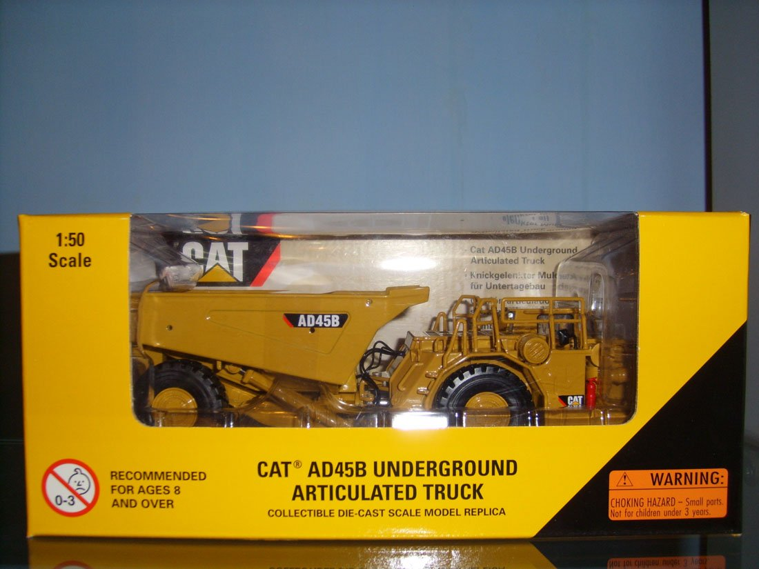 1:50 N-55191 CAT AD45B Underground Articulated Truck toy, (Scale Model Truck, Construction vehicles Scale Model, Alloy Toy Car, Diecast Scale Model Car, Collectible Model Car, Miniature Collection Die cast Toy Vehicles Gifts).