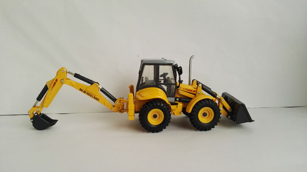 1:50 New Holland LB115 Backhoe Loader Diecast Models For Collection Toys, (Scale Model Truck, Construction vehicles Scale Model, Alloy Toy Car, Diecast Scale Model Car, Collectible Model Car, Miniature Collection Die-cast Toy Vehicles Gifts).