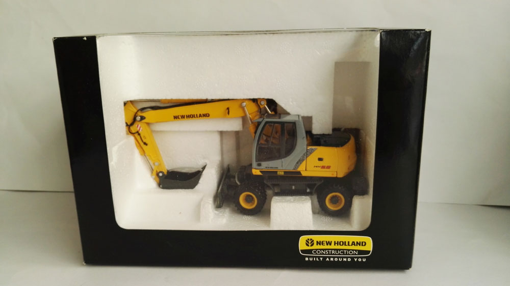 1:50 New Holland MH5.6 Excavator Toys, (Scale Model Truck, Construction vehicles Scale Model, Alloy Toy Car, Diecast Scale Model Car, Collectible Model Car, Miniature Collection Die-cast Toy Vehicles Gifts).
