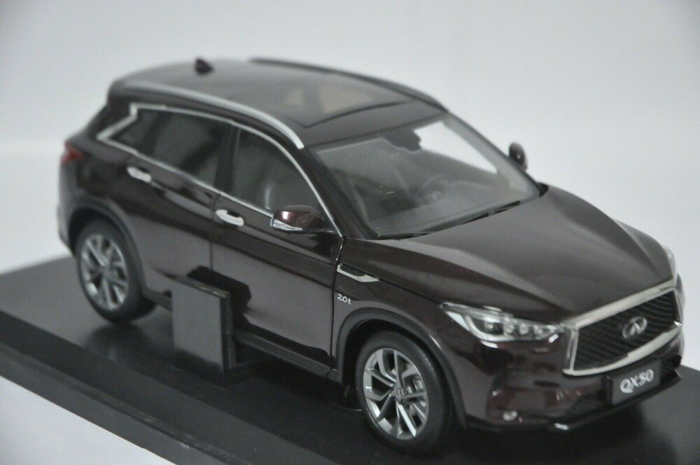 1:18 Diecast Model for Nissan Infiniti QX50 2018 Red Brown SUV Alloy Toy Car Miniature Collection Gifts Hot Selling QX EX25